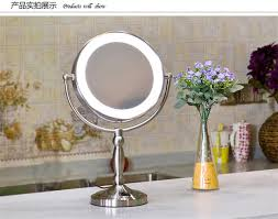 high light led ring 9 double faced desktop makeup vanity mirror cosmetic beauty mirror