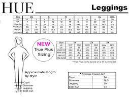 Size Chart Leggings Hue Canada