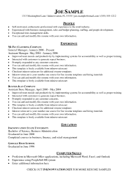 Free Resume Templates General Template Rig Manager Sample Within