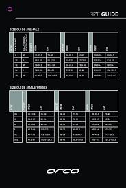 19 Explicit Orca Tri Suit Size Chart