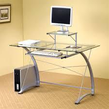 glass desk glass top desks for elegant but simple appereance