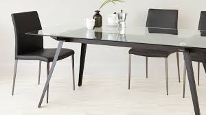 6 8 seater glass dining table black powder coated legs in seat decorations 11