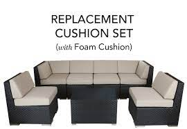 replacement cushion covers with foam
