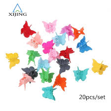 <b>20PCS</b>/<b>set</b> Mini <b>Hair</b> Claws <b>Kids</b> Colorful <b>Hair</b> Clips Butterfly Shape ...