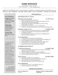 Resume Template Sample Warehouse Manager Resume Free Career