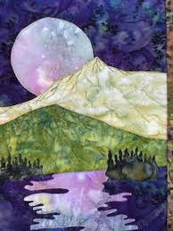 41 best images about Quilting Ideas on Pinterest | Puff quilt ... & Easy landscape art quilt pattern tutorial : moon over the mountains Adamdwight.com