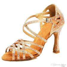 <b>Samisoler</b> Glitter Rhinestone Latin <b>Dance Shoes Women</b> Satin ...