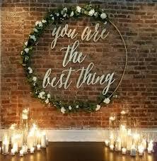 circle wedding backdrop