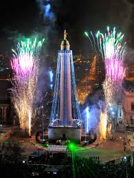 the 39th annual lighting of the washington monument in mount vernon square is seen from the