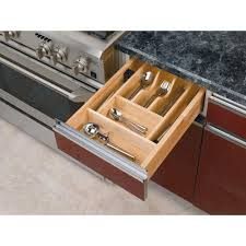 Small Kitchen Drawer Organizer Rev A Shelf 238 In H X 1462 In W X 22 In D Small Wood Cutlery