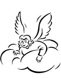 Small Picture Angel in Clouds coloring page Free Printable Coloring Pages