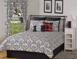 image of beautiful solid black king comforter