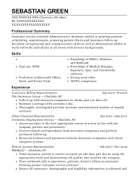 Best Patient Account Representative Resumes Resumehelp