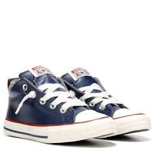 converse navy. converse chuck taylor all star street mid top leather sneaker midnight navy