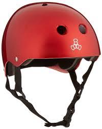 Triple 8 Brainsaver Size Chart Triple 8 Standard Liner Skateboarding Helmet Red Metallic M