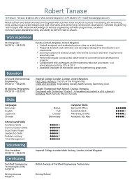 Resume Examples By Real People Civil Engineer Resume