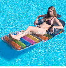 inflatable pool lounger with drink holders plastic beach sun lounger pvc pool chair lilo reclining chair