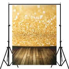 5x7ft vinyl gold glitter wood floor photography backdrop background studio prop cod