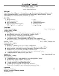 best process controls engineer resume example livecareer choose