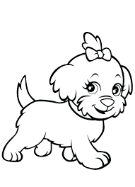 puppy coloring page coloring cute