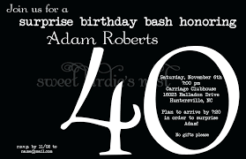 surprise 40th birthday invitations birthday invitation wording free surprise 40th birthday party invitations uk