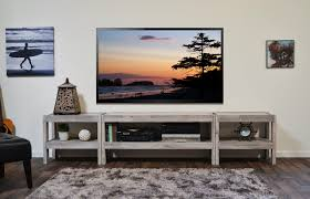 Gray Coastal Rustic Beach House Entertainment Center TV Stand   PresEARTH  Driftwood Nice Look
