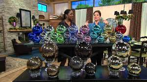 set of 3 lit indoor outdoor mercury glass spheres w timer by valerie on qvc