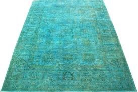 blue and green rug blue green over dyed rug red blue green yellow rug blue and green rug