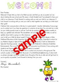 Welcome Letter School Supply List Template Pineapple Edition Tpt