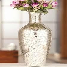 mercury glass vase 16 decorative vase silver stone vase home accent 68296141142
