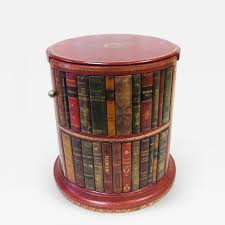 listings furniture tables side tables round leather book end table