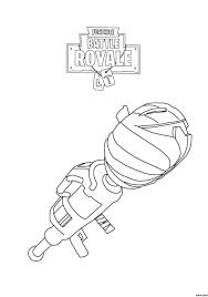 Coloring Page Coloring Fortnite Battle Royale Rocket Launcher Page