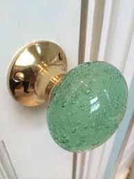 beautiful pair of large antique bronze bubble glass mortice door knobs handles vintage 6 colours