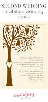 Second Wedding Invitation Wording Invitations By Dawn