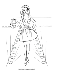 Small Picture Barbie Model Coloring Pages Coloring Pages
