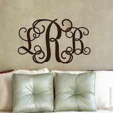 monogram wall decals in decors