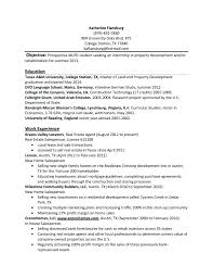 Sample General Objective For Resume Resume Templates For College Students Internships Internship