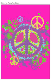 Peace Sign Bedroom Decor Tie Dye Peace Sign Wallpaper