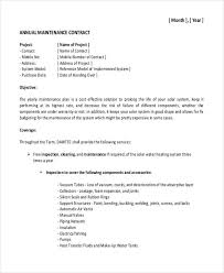 annual maintenance contract format for machine 19 maintenance contract templates pages word docs