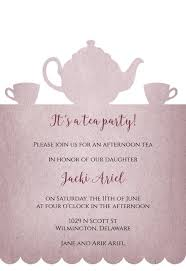 Tea Party Invitation Template Free Greetings Island