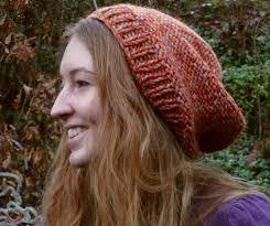 Slouchy Beanie Knitting Pattern Straight Needles