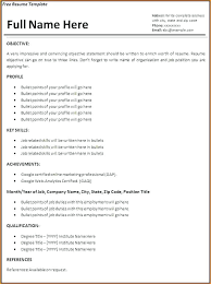 work experience resume template. Work Experience Resume Template Job Resume Template Free Words