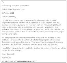 Writing A Cover Letter For A Scholarship Scholarship Application