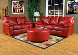 Red Leather Living Room Sets Red Leather Look Fabric Modern Sofa Loveseat Set W Options