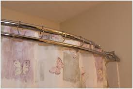 luxurious double shower curtain rod
