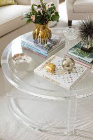 styling tricks for round coffee tables