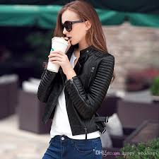2018 genuine leather 2017 autumn new high fashion street brand style women real leather short motorcycle jacket outerwear top quality from happy weddings