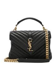 College Designer Bags Womens Black Medium Monogramme University Bag Shoulder