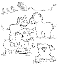 Coloring Page Little People Kids N Fun Printables Farm Coloring