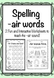Worksheet for (very) young learners who have just started reading. Air Phonics Spelling By Fab Phonics Teachers Pay Teachers